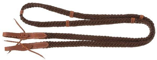 Poly Roping Reins with Leather Waterloop Ends