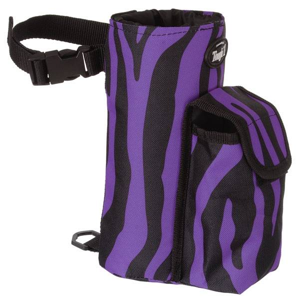 Tough-1 Bottle Holder/Cell Phone Combo Pouch - Zebra Prints