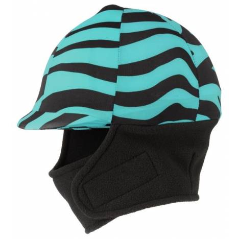 Tough-1 Lycra Helmet Cover with Fleece Neck & Ear Warmers in Prints