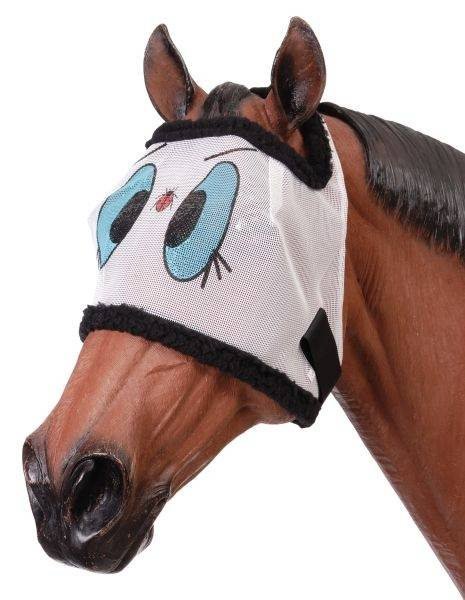 Tough-1 Miniature Novelty Ladybug Mesh Fly Mask
