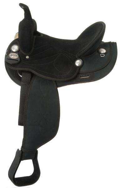 King Series Suede Seat Synthetic Trail Saddle Package