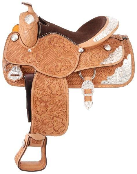 Silver Royal Premium Challenger Silver Show Saddle - Silver Star Trim