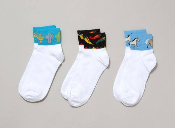 Gift Corral Adult Ankle Socks - Stars & Brands