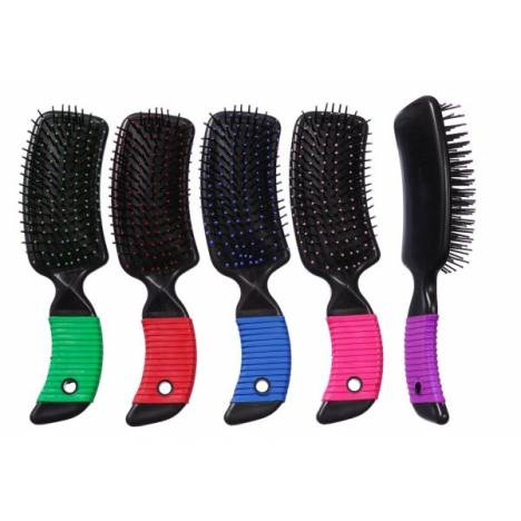 Tough-1 Curved Handle Tail and Mane Brush - 6 Pack