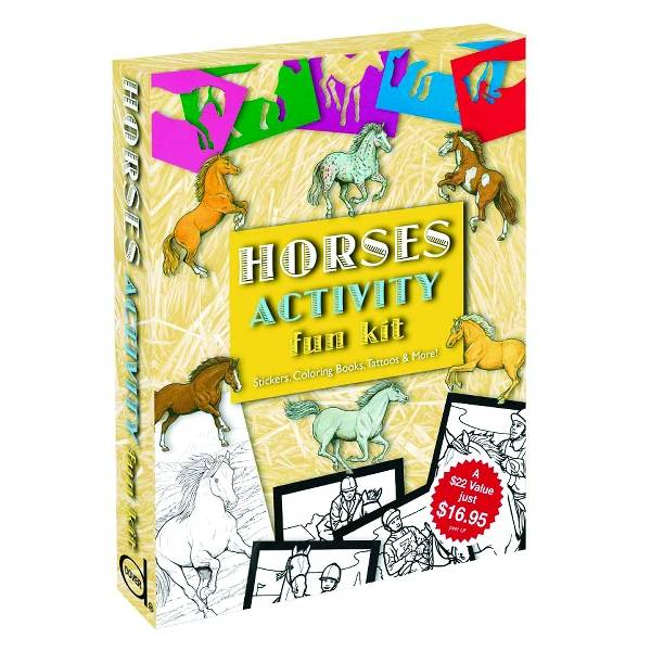 Horses Activity Fun Kit W Coloring Books & Stickers