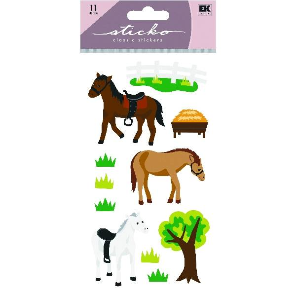 Horses & Tree Glitter Stickers