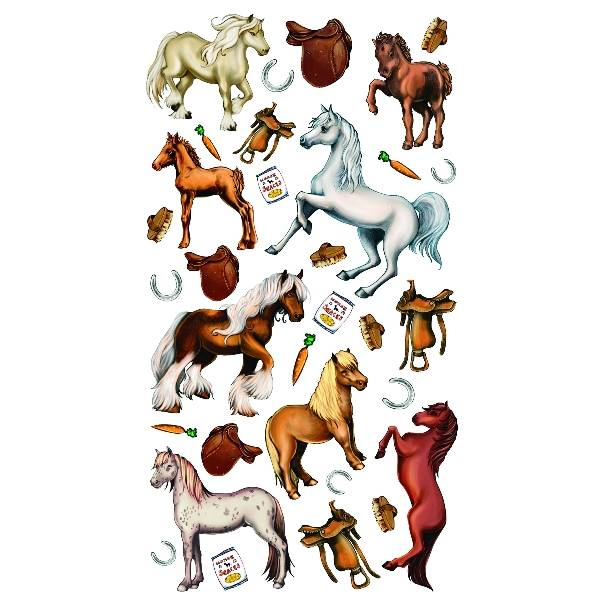 Horses & Carrots Stickers