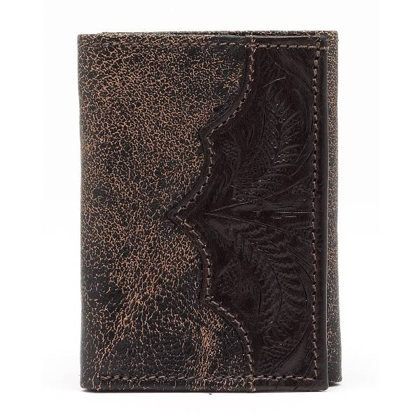 AMERICAN WEST Men's Tri-Fold Wallet