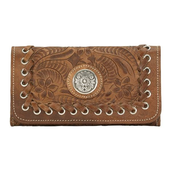 AMERICAN WEST Harvest Moon Ladies' Tri-Fold Wallet