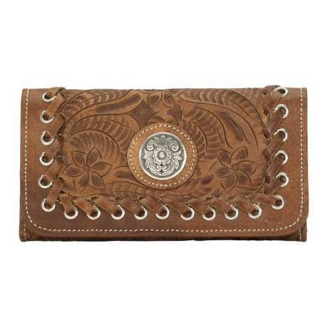 AMERICAN WEST Harvest Moon Ladies Tri-Fold Wallet