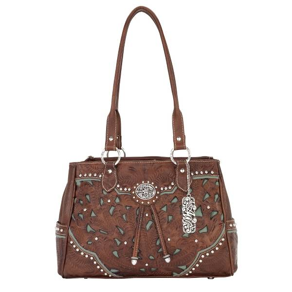 AMERICAN WEST Lady Lace Organizer Tote Handbag