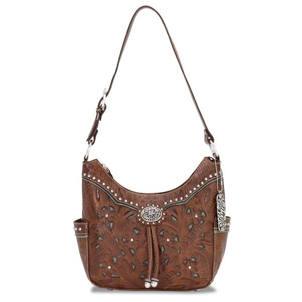 AMERICAN WEST Lady Lace Hobo Style Handbag