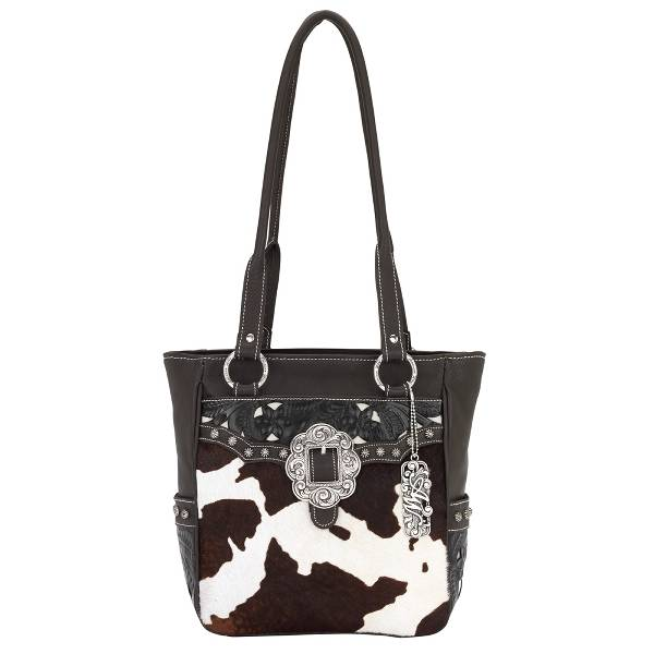 AMERICAN WEST Prairie Rose Zip Tote Handbag