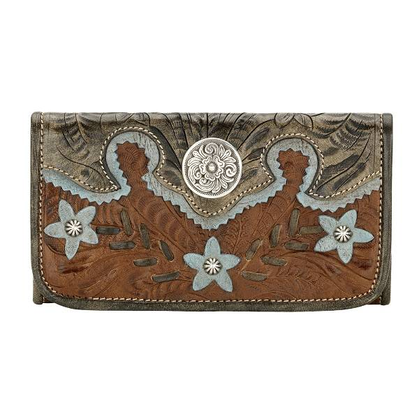 AMERICAN WEST Desert Wildflower Ladies' Tri-Fold Wallet