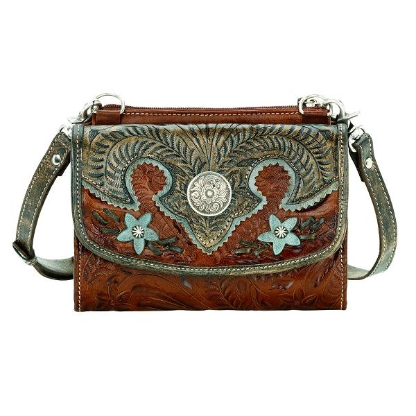 AMERICAN WEST Texas Two Step Handbag/Wallet Combo