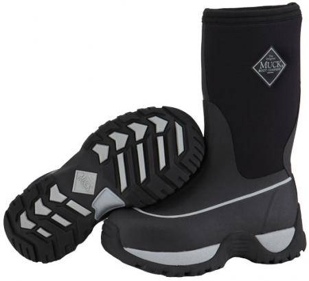 Muck Boots Youth Rugged Boot - Black Silver
