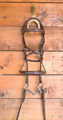 Masters Bella Fancy Stitched Raised Bridle
