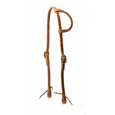 TORY LEATHER Heavy Weight One Ear Headstall - Tie Ends