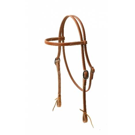 TORY LEATHER Heavy Weight Browband Headstall - Tie Ends