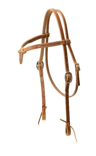 TORY LEATHER Heavy Weight Knotted Brow Headstall - Tie Ends