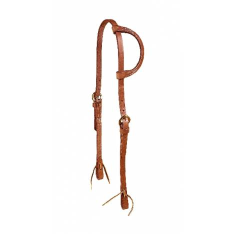 TORY LEATHER One Ear Single Ply Headstall - Tie Ends