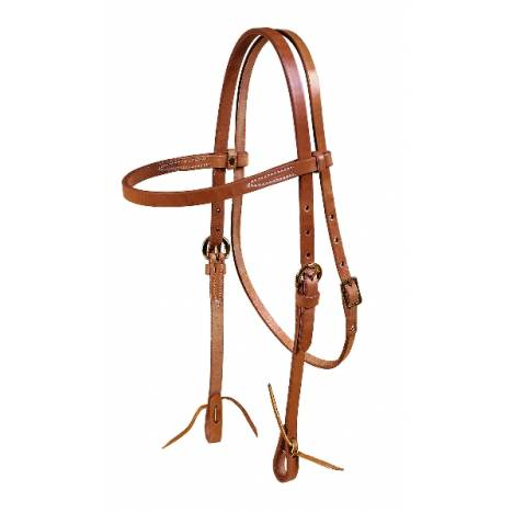 TORY LEATHER Browband Single Ply Headstall - Tie Ends