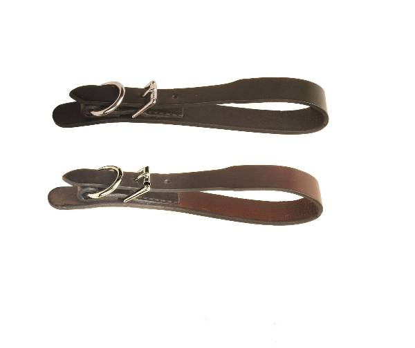 TORY LEATHER Chesley Adjustable Girth Loop - Roller Buckle