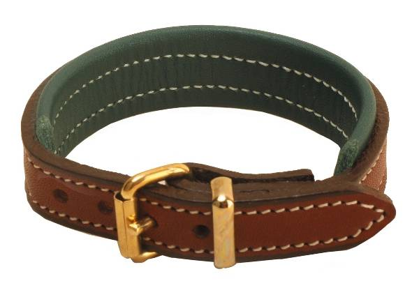 TORY LEATHER 1/2'' Padded Leather Bracelet with Brass Buckle