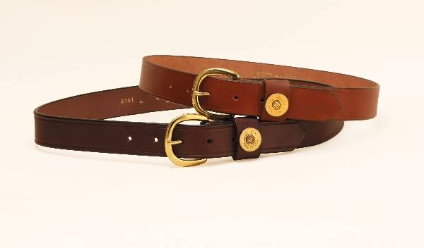 TORY LEATHER 1 1/4'' Shot Shell Belt with Brass Buckle