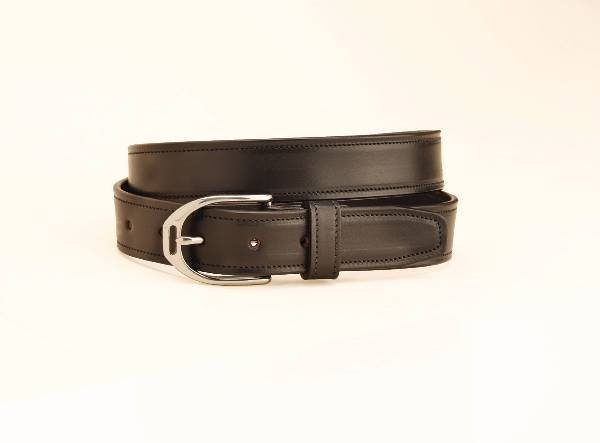 Tory Leather Leather Belt with English Stirrup Buckle