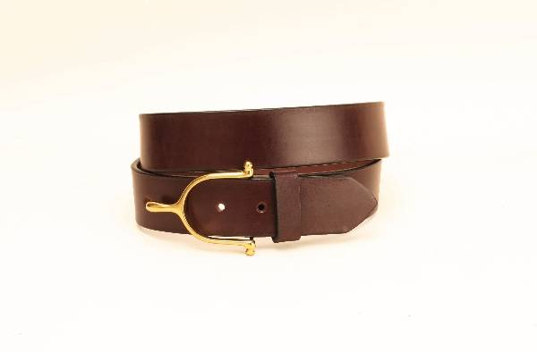TORY LEATHER 1 1/2'' Belt with Spur Buckle
