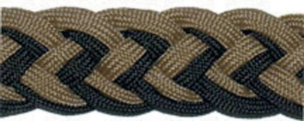 Tory Leather Braided Barrel Rein With Knots