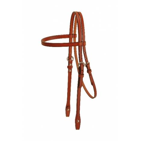 TORY LEATHER Pony Brow Band Headstall - Double Crown Buckles