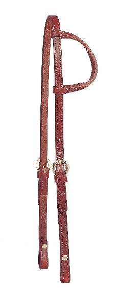 TORY LEATHER Double & Stitched Bridle Leather One Ear Headstall