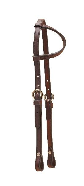 TORY LEATHER Sliding Ear Pony Headstall