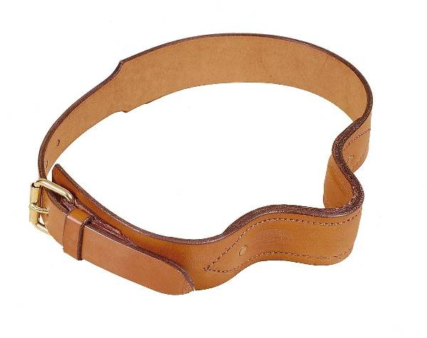 Tory Leather Leather French Style Cribbing Strap With Steel Plate