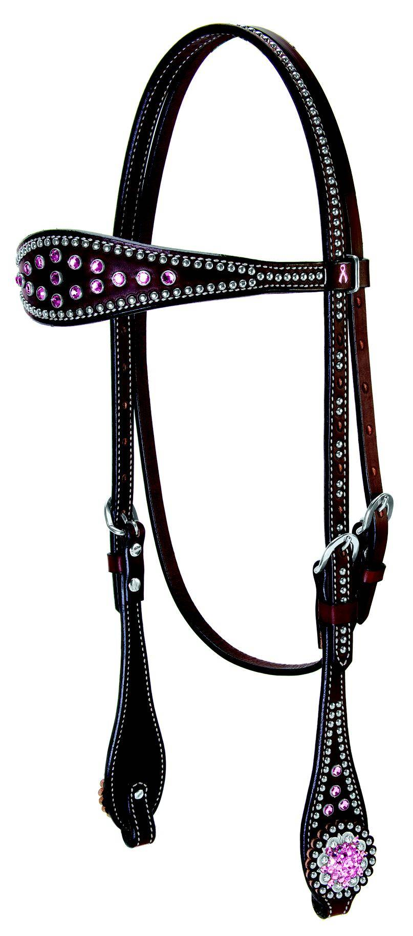 Weaver Leather Pretty In Pink Browband Headstall