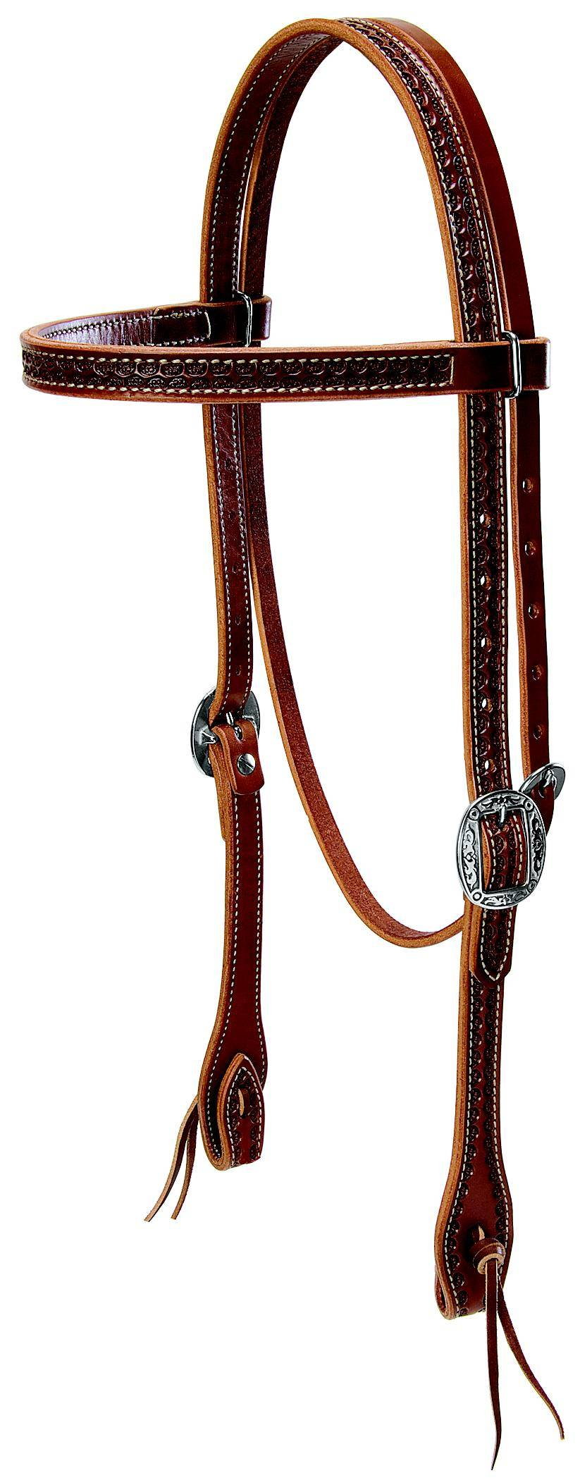 Weaver Leather Tooled Browband Headstall With Accents