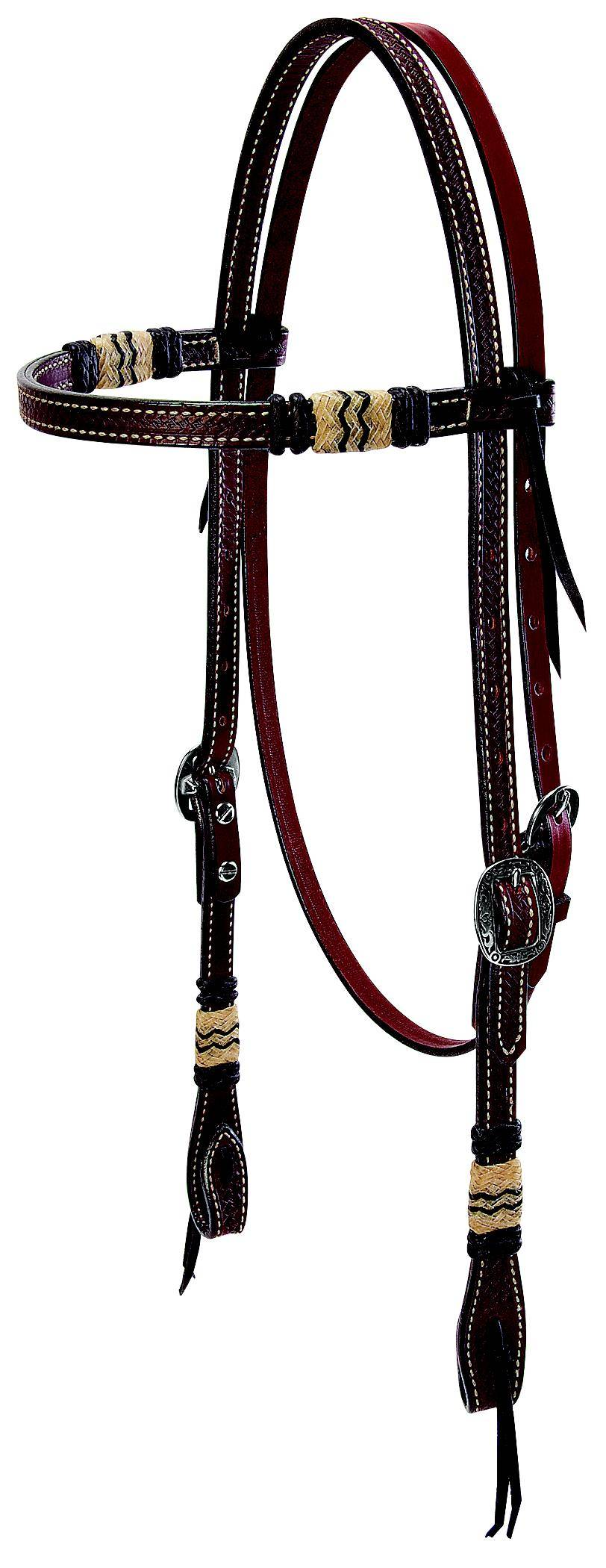 Weaver Leather Basketweave Browband Headstall With Accents