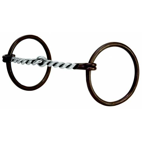 Weaver Leather Prof O Ring Snaffle With Twisted Curve