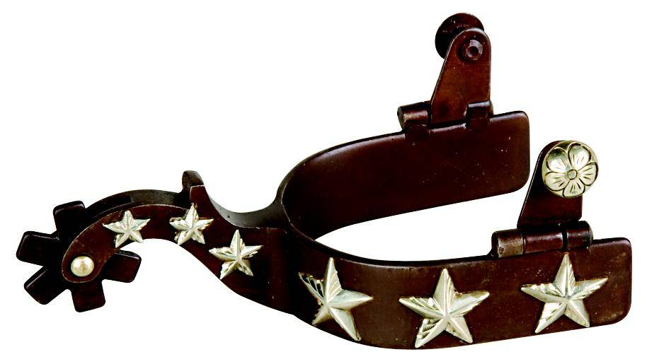Weaver Leather Men's' Spurs With Engraved Silver Stars
