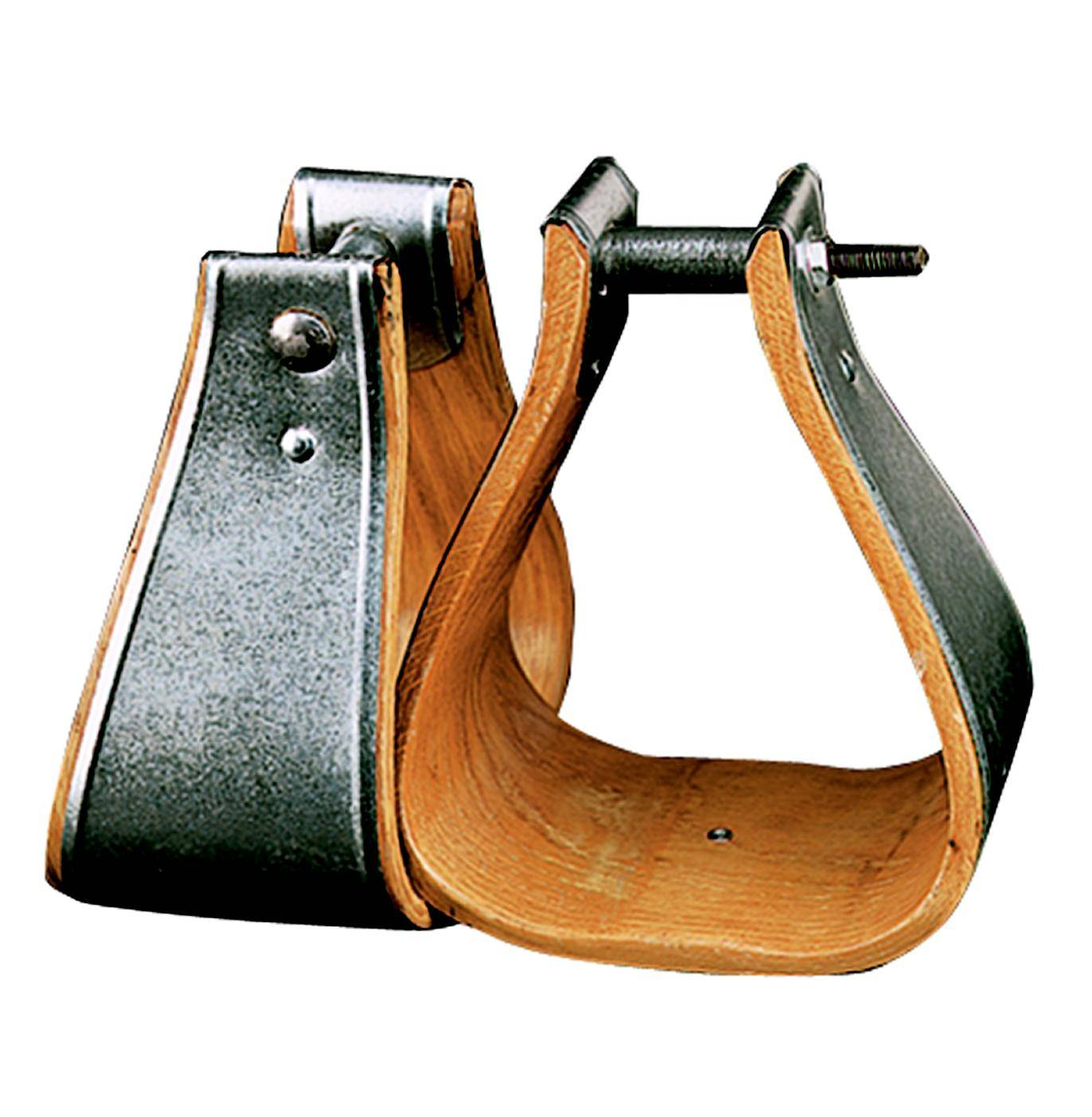 Weaver Leather Wooden Bound Military Stirrups