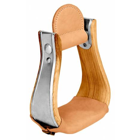 Weaver Leather Wooden Bell Stirrup With Leather Treads