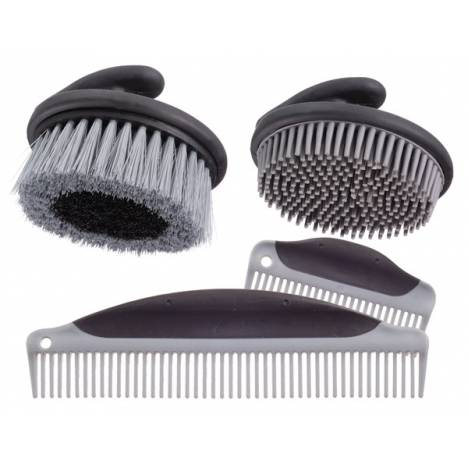 Palm Grip Brush & Comb Collection - 4 Piece