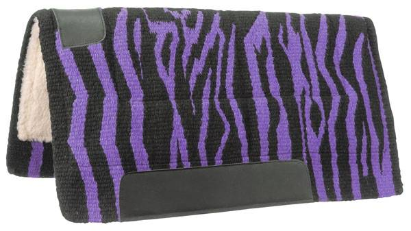 Tough-1 Wool Zebra Print Saddle Pad