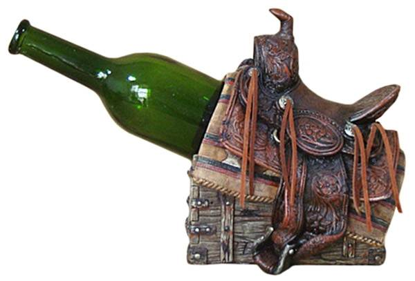 Gift Corral Western Saddle Wine Holder
