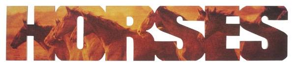 Gift Corral Horses Sign