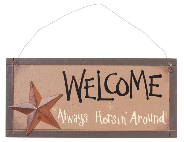 Gift Corral Double Sided Welcome Sign