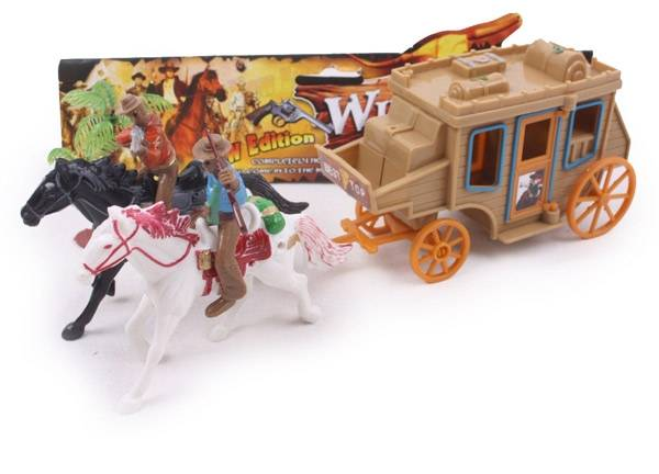 Gift Corral Stagecoach with Horses Playset