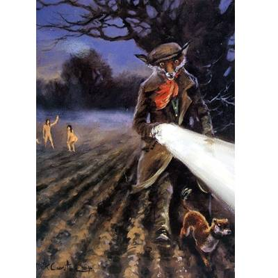 Lamping (Fox) Blank Greeting Cards - 6 Pack